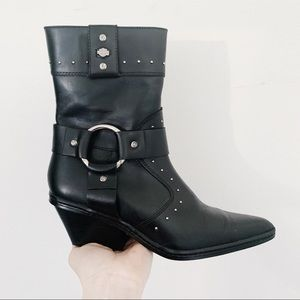 NWOT Harley-Davidson Pointed Toe Studded Boots